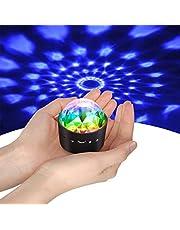 Yikanwen Mini-discobol, met stembediening, disco, feestverlichting, podiumverlichting, effectlicht, DJ, stroboscoop, bal met spiegels en glittereffect voor feesten, kinderen, verjaardag, club
