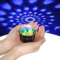 Mini Discokugel Licht,YIKANWEN Stimme Steuerung Disco Party Lichter Bühnenbeleuchtung Effektlicht DJ Stroboskop Kugel mit...