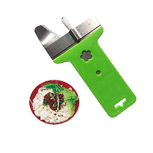 Pack 2 Stainless Steel Manual Section Non-slip Handle Pressing Machine Noodles Cut Knife Shallot Cutter Spaetzle Makers