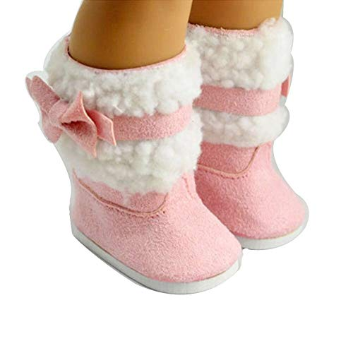 Shoes for 18-inch Doll Shoes Pink Snowshoe Doll Accessories for Children's Birthday Gifts S81