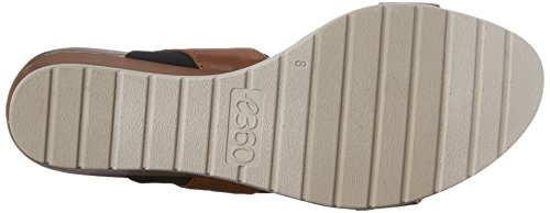 Easy Women's Synthetic Wedge hagano3 Black Sandal Spirit Natural qqCaA