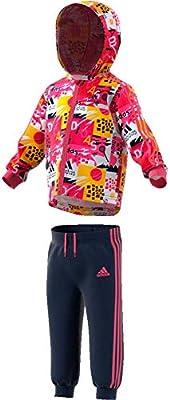 adidas I Shiny FZ HD J Chándal, Unisex bebé, rosrea, 74: Amazon.es ...