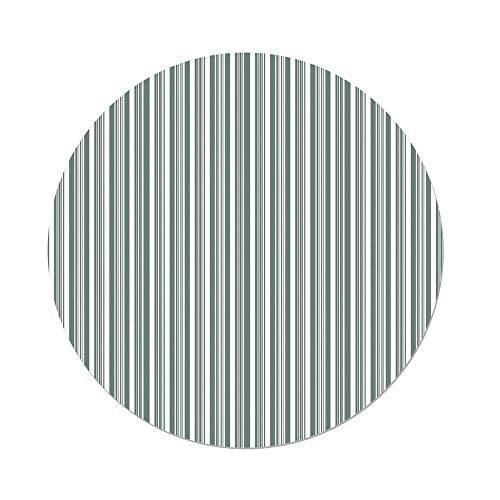 - iPrint Polyester Round Tablecloth,Modern Decor,Vertical Thin Bold Stipes Optical Pattern Retro Style Abstract,Light Sage Green White,Dining Room Kitchen Picnic Table Cloth Cover Outdoor Indoor