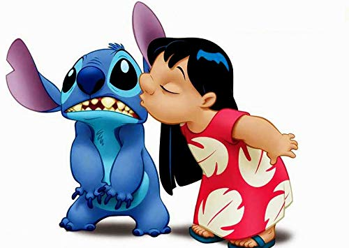 (Lilo & Stitch Iron On Transfer for T-Shirts & Other Light Color Fabrics #1)