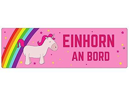 Plástico Cartel con ventosa Unicornio a bordo regalo mujer ...