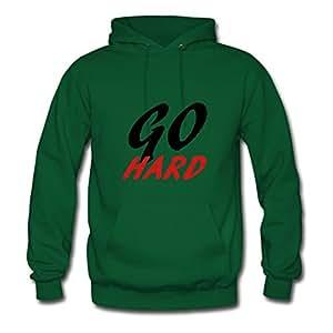 Customizable Cool Go Hard Lovely Sweatshirts In Green Women Cotton X-large