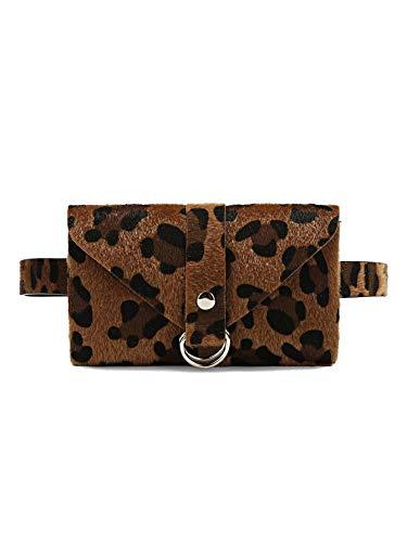 Leopard Belt Bag Ring Detail Leopard Print Small Bum Bag (Leopard)