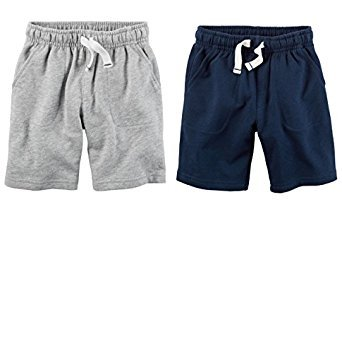 Carters Toddler Boys 2 Pack Pull-On French Terry Soft Shorts (2T) ()