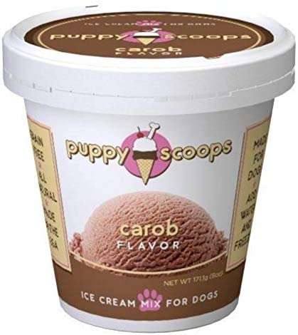 Puppy Scoops Dog Ice Cream Mix – Variety 3 Pack 3 Pints of Ice Cream for Dogs- Carob, Maple Bacon, and Vanilla