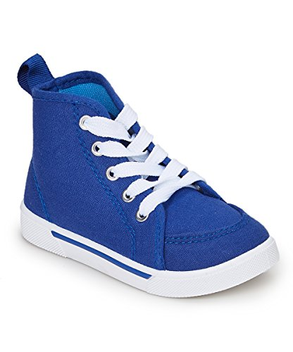 Shoe Shox Toddler Girls' Hi-Tops Size 5 (Blue/White) (Sneaker Shoe Shox)