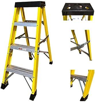 Escalera de fibra de vidrio de 4 hilos, 30000 V, escalera de electricista de alta resistencia EN131 GRP escalera: Amazon.es: Bricolaje y herramientas