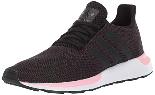 adidas Originals Women's Swift Running Shoe, Black/Black/True Pink, 8 M US