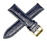 Lucien Piccard 24MM Alligator Grain Genuine Leather Watch Strap 8'...