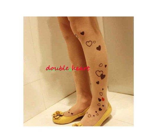 Demarkt Sexy Leggings Collants Cœurs - Femme