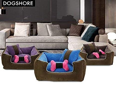 Dogshore - Modelo Corduroy - Sofá cama para perro, para interior, de tejido alcántara de alta calidad, 77 x 65 x 23: Amazon.es: Jardín