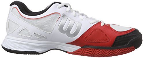 Wilson Rush Evo Herren Tennisschuhe Mehrfarbig (WHITE/WILSON RED WILSON/BLACK)