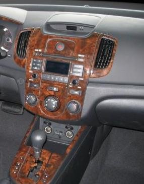 KIA SOUL INTERIOR BURL WOOD DASH TRIM KIT SET 2010 2011 2012 2013