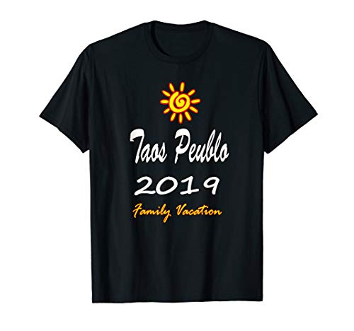 Taos Peublo Family Vacation 2019 Spiral Sun T-Shirt (Best Of Taos 2019)