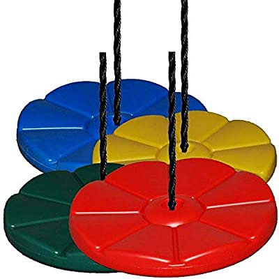 Playkids Disc Swing with 11 Foot Rope - Swing Set Playground (Blue): Toys & Games