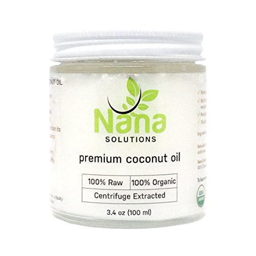 Price comparison product image Centrifuge Extracted 100% Organic Raw Extra Virgin Coconut Oil by Nana Solutions / For Cooking,  Skin Care,  Hair Care,  & Oral Hygiene / Travel Size 3.4 oz