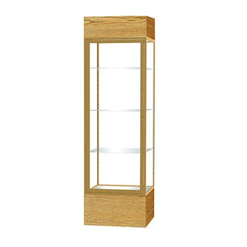 Waddell Frame Aluminum (Waddell Keepsake Floor Display Case with Lighted Cornice, 24