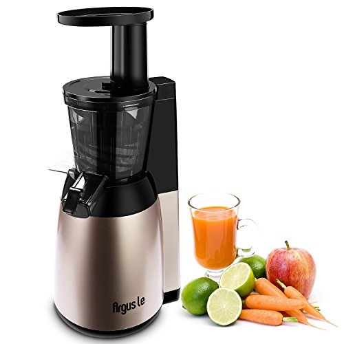 Argus Le Slow Juicer, Compact Design Masticating Juicer, High Nutrient Cold Press Juicer, Easy to Extract Fruit and Vegetable Juice