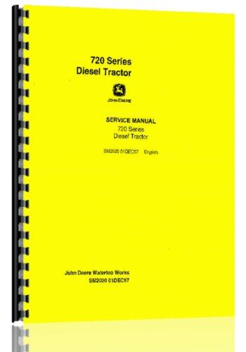 John Deere 720 730 Tractor Service Manual elec start