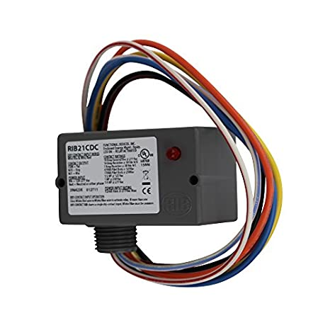 41Uf88XmWQL._SX466_ functional devices rib rib21cdc enclosed pre wired relay 120v to honeywell r8845u wiring diagram at alyssarenee.co