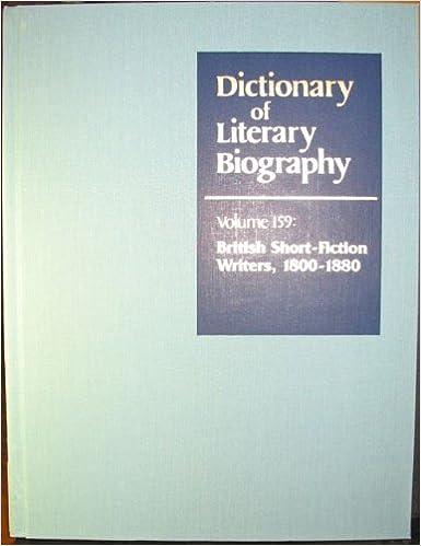 Dictionary of Literary Biography: British Short Fiction - Books