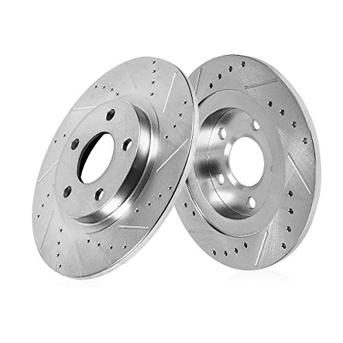 Callahan CDS03546 REAR 283mm Drilled & Slotted 5 Lug [2] Rotors [ for Hyundai Sonata Kia Optima ]