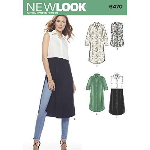 - New Look Pattern 6470 Misses' Shirt Dress or Tunics with Length Variations