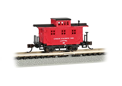 (Bachmann Old-Time Caboose - Union Pacific - N Scale, Prototypical Oxide Red)
