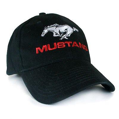 - Ford Mustang Running Pony Black Baseball Hat