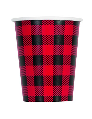 Unique Plaid Lumberjack Party Bundle | Luncheon & Beverage Napkins, Dinner Plates, Table Cover, Cups | Great for Country/Rustic Birthday Themed Parties by Unique (Image #8)