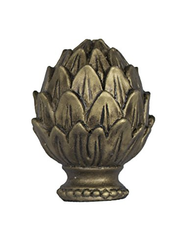 Urbanest Artichoke Lamp Finial, Antique Gold, 2-inch Tall - Gold Finial