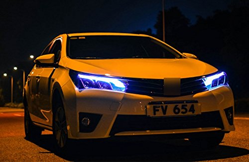 GOWE Car Styling for Toyota Corolla Headlights 2014-2016 Altis LED Headlight DRL Bi Xenon Lens High Low Beam Parking Fog Lamp Color Temperature:4300k;Wattage:55w 4