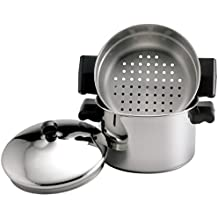 Farberware Classic Stainless Steel 3-Quart Covered Stack 'n' Steam Saucepot and Steamer