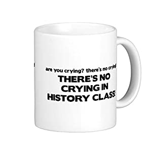Christmas Coffee Mugs Gifts for Men Ceramic No Crying in History Class Mug Funny for Women Office Ceramic Cup 11oz