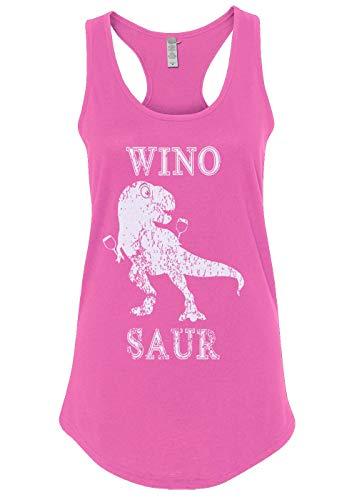 Mixtbrand Women's Winosaur T-Rex Funny Racerback Tank Top M Hot Pink ()