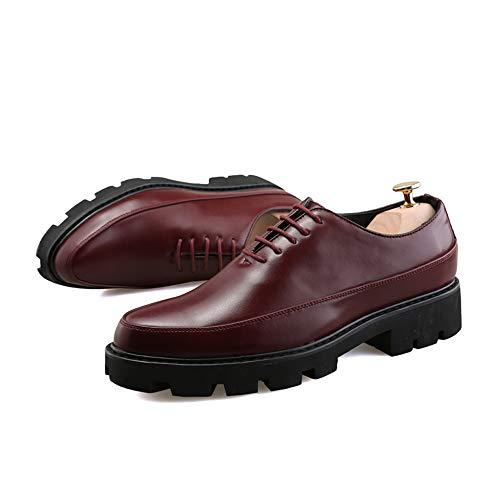 Hombres los La Formales de Cuero Oxford del Nueva Rojo de Zapatos Informal Parte del Suave la los con Inferior Negocio línea Gruesa w4wpvY