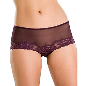 Camille Womens Ladies Underwear Purple Sheer Lace Boxer Shorts 14 ...