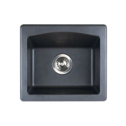 Swanstone QZ01816BS.077 Granite Dual Mount Single-Bowl Kitchen Sink, 16