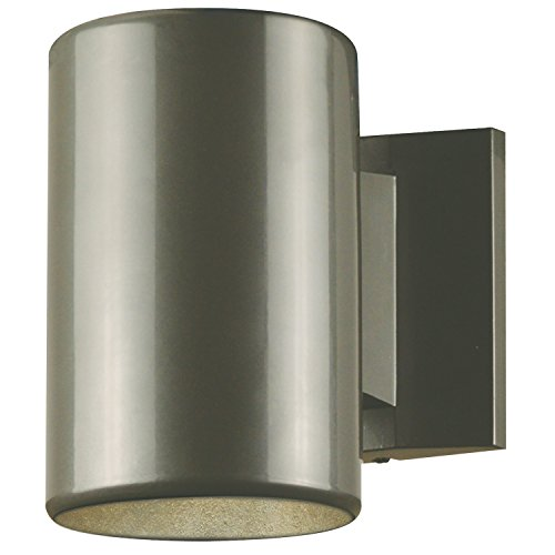 6797300 One Light Outdoor Wall Fixture, Polished Graphite Finish On Steel  Cylinder