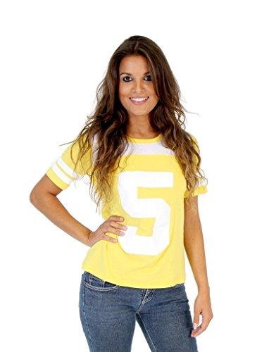 April O'neil Tmnt Costume (EVR Corp. Teenage Mutant Ninja Turtles April O' Neil 5 Yellow Costume T-shirt (Juniors XX-Large))