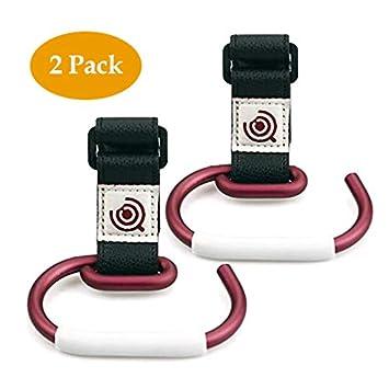 Amazon.com: Paquete de 2 ganchos universales para cochecito ...