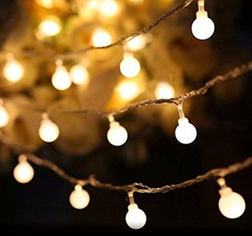 Color: Warm white # Battery Powered 3M 20 LED Ball Fairy String Light Outdoor Christmas Wedding Xmas Party Decor by Superjune