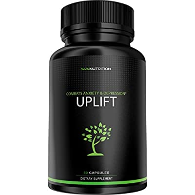 Fight Anxiety & Depression With UPLIFT - 60 Count | Bacopa Monniere, Ashwaganda, Asparagus Racemosus | Ayurvedic Treatment | V-Capsules