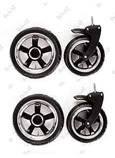 Reifen 225x48 luftbereift Kinderwagen Vorderrad Schwenkrad Capri ohne Gabel Kunststofffelge Silber