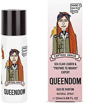 Queendom Perfume Captain Grace for Women - Woody Fruity Fragrance - 20ml Eau de Parfum Mini Spray