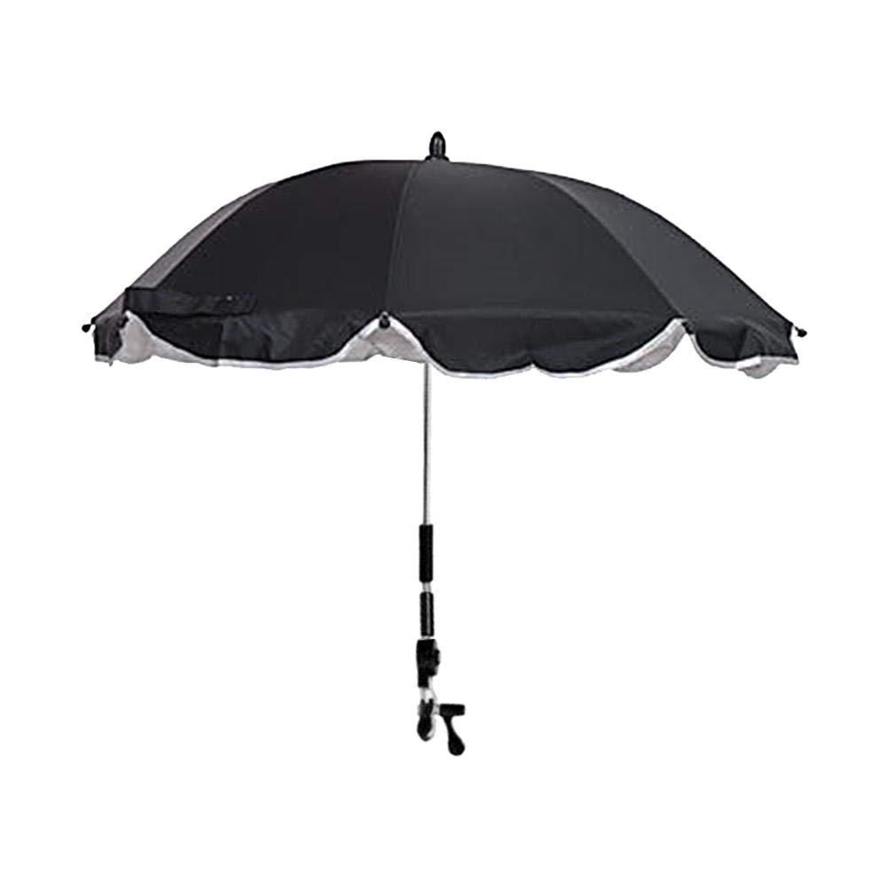 Funihut Sombrilla Carrito Bebe Universal Paraguas Sombrilla Parasol para Cochecito Y Silla De Paseo con UV Protecci/ón 360 Grados De Direcci/ón Ajustable para Beb/és Y Ni/ños